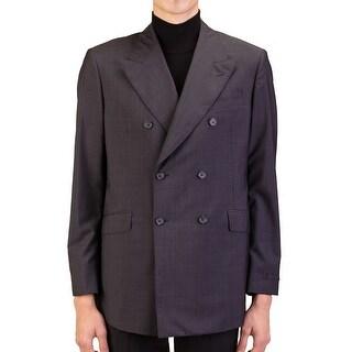 Prada Men's Wool Silk Double Breasted Jacket Sportscoat Black - 44