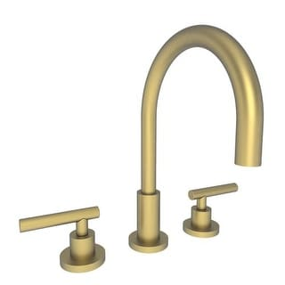 Newport Brass 990L East Linear Double Handle Widespread Lavatory Faucet with Metal Lever Handles