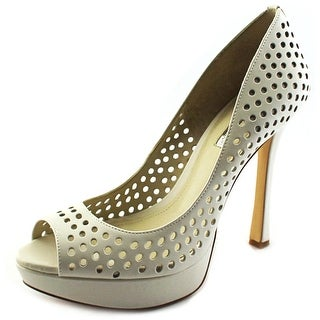 BCBGeneration Sherrie Women Open Toe Leather White Platform Heel