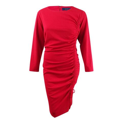 Rachel Rachel Roy Women's Plus Size Side-Tie Sheath Dress - Autumn Cherry