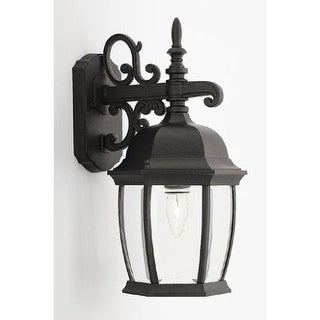 """Designers Fountain 2421-BK 1 Light 8"""" Cast Aluminum Wall Lantern from the Tiverton Collection"""
