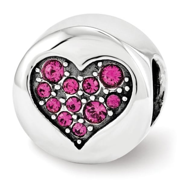 Sterling Silver Reflections Swarovski Elements July-Passion Bead (4mm Diameter Hole)