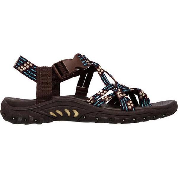 incredible prices color brilliancy volume large Shop Skechers Women's Reggae Loopy Sandal Chocolate/Blue ...