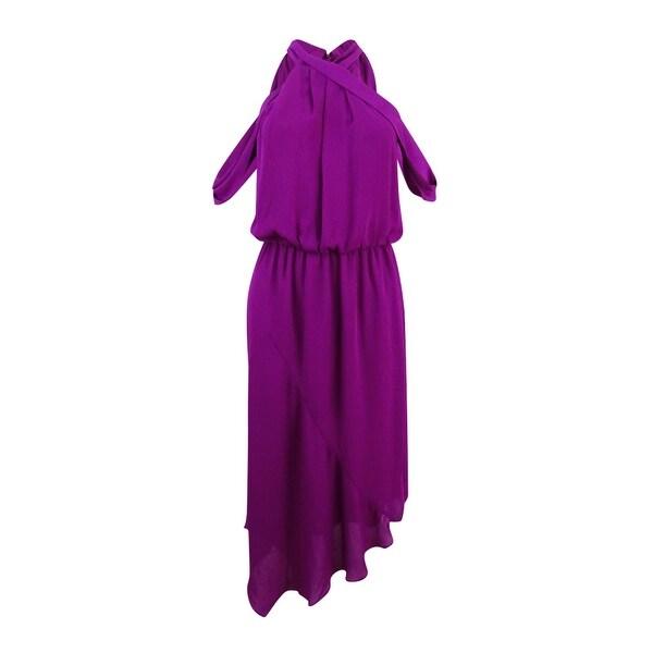 Rachel Roy Women's Cold-Shoulder Midi Dress - Purple