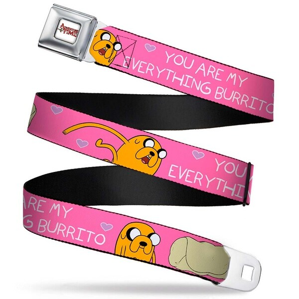 Adventure Time Logo White Full Color Jake You Are My Everything Burrito Seatbelt Belt