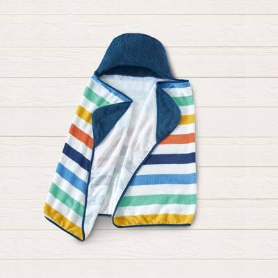 Style Quarters hooded towel-stripe