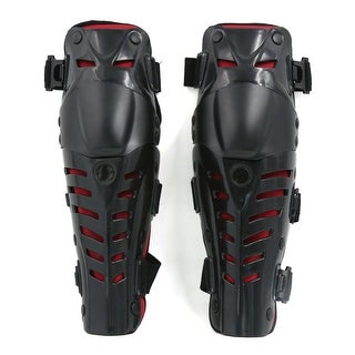 Unique Bargains 2pcs Adults Knee Shin Armor Protector Guard Pads for Bike Motorcycle Motocross