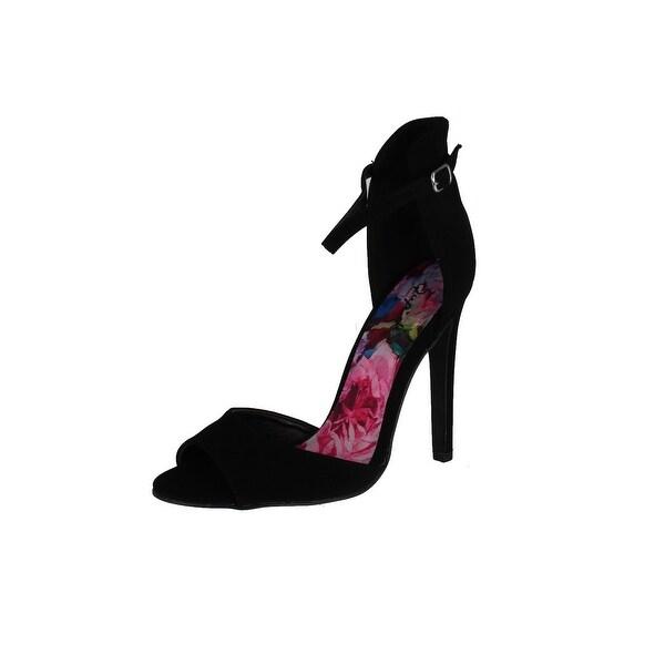 Qupid Women's Interest-01 Pumps Sandals - Black Suede