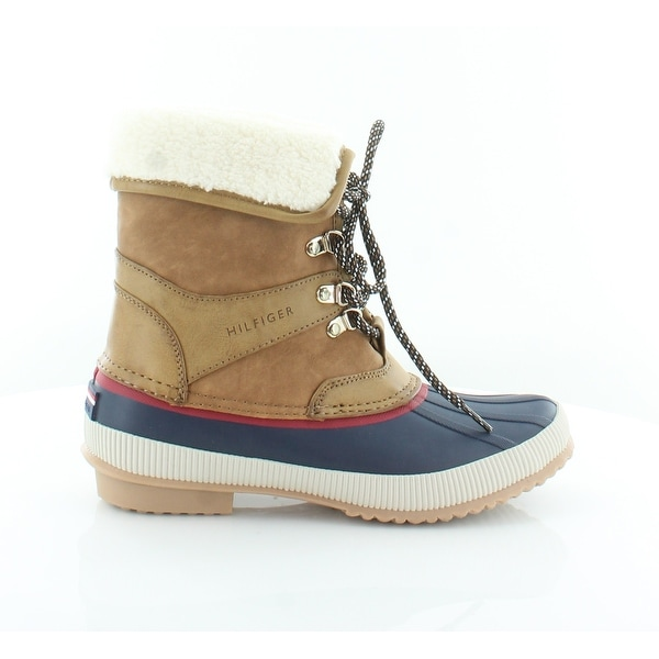 8e17b414a Shop Tommy Hilfiger Rustee Women s Boots Dark Natural - Free ...