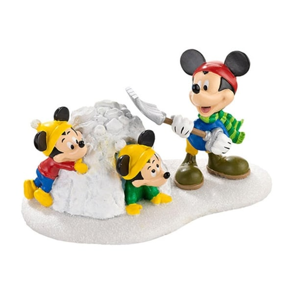 "Department 56 Disney Mickey Mouse ""Snow Fort Fun!"" Figurine #4032207"