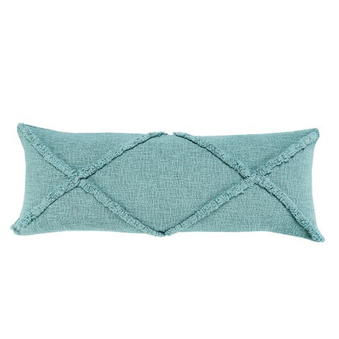 Solid Decorative Diamond Tufted Cotton Throw Pillow