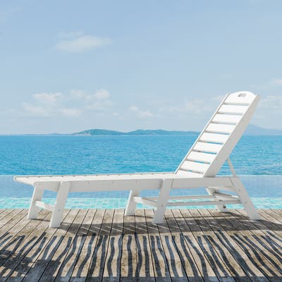 POLYWOOD Nautical Outdoor Stackable Chaise Lounge