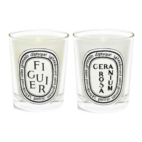 Diptyque Scented Candles Twin Pack (Fig Tree, Rose Geranium)