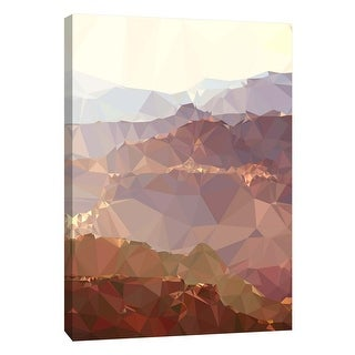 """PTM Images 9-105760  PTM Canvas Collection 10"""" x 8"""" - """"Faceted Desert 2"""" Giclee Mountains Art Print on Canvas"""