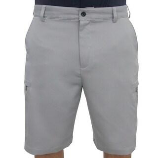 IZOD Golf Men's Flat Front Solid Cargo Shorts, NEW