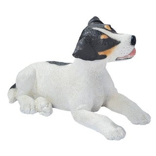 Design Toscano Black & White Jack Russell Puppy Dog Statue