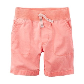 Carter's Baby Boys' Twill Shorts, Orange, Blue Tie, 3 Months