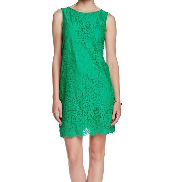 106da843da0 Shop Max Studio NEW Green Women s Size Large L Floral Lace Shift Dress -  Free Shipping On Orders Over  45 - Overstock - 18350045