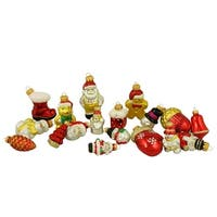 18ct Snowman, Santa, Nutcracker and Gingerbread Glass Figure Christmas Ornaments