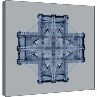 """PTM Images 9-101278  PTM Canvas Collection 12"""" x 12"""" - """"Brooklyn Bridge Medallion 1"""" Giclee Abstract Art Print on Canvas"""