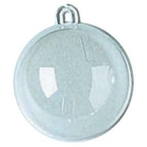 Clear - Plastic Hanging Ball Ornament 60mm