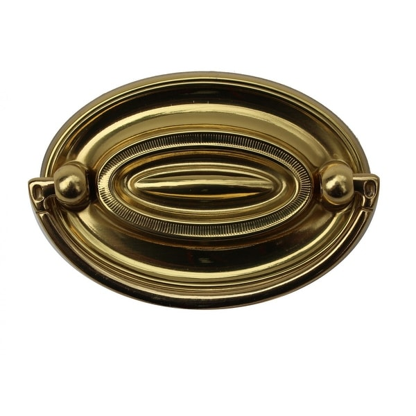 Hepplewhite Drawer Pull Polished Solid Brass 2 5/8 W | Renovator's Supply