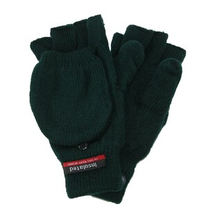 CTM® Men's Knit Flip Top Insulated Gloves