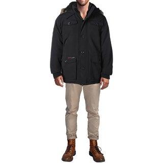 Canada Weather Gear Mens Parka Coat Hooded Coat