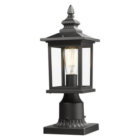 EAPUDUN- 1 light Black Post Mount - 16.3 inch