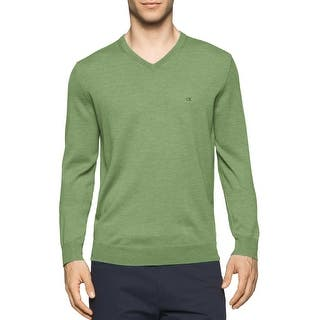 Calvin Klein Italian Merino Wool V-neck Sweater Lime Green XX-Large|https://ak1.ostkcdn.com/images/products/is/images/direct/a1b4f075a917c64680918e5144ad1d6ff978f01b/Calvin-Klein-Italian-Merino-Wool-V-neck-Sweater-Lime-Green-XX-Large.jpg?impolicy=medium