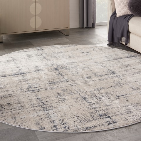 Rustic Textures Vintage Abstract Modern Area Rug