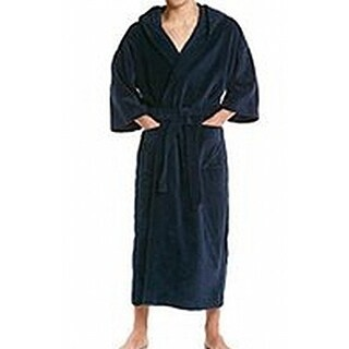 Lord & Taylor NEW Navy Blue Mens Size Medium M Belted Sleepwear Robes