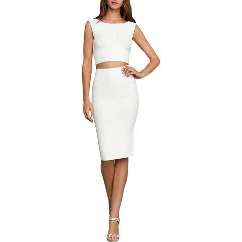 BCBG Max Azria Womens Straight Skirt Knit Solid