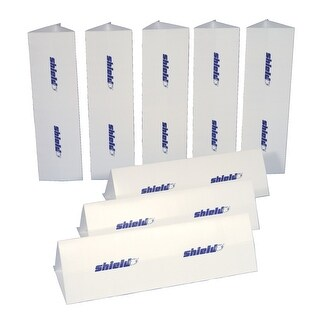 Shield 39 x 11 in Multi-Purpose Barriers, Set of 8, White