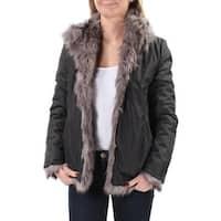 Womens Gray Button Down Coat  Size  XS