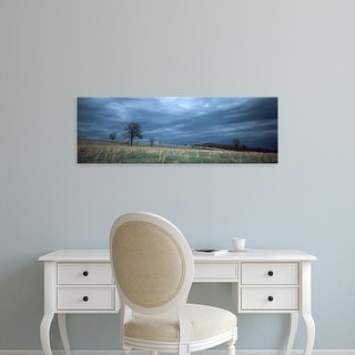 Easy Art Prints Panoramic Images's 'Clouds over a landscape, Illinois, USA' Premium Canvas Art