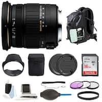 Sigma 17-50mm f/2.8 EX DC OS HSM Zoom Lens for Nikon DSLR with Backpack Bundle