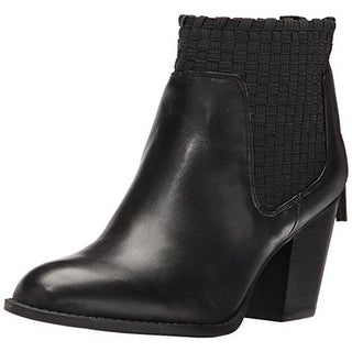 Jessica Simpson Womens Yeni Ankle Boots Leather Stacked Heel