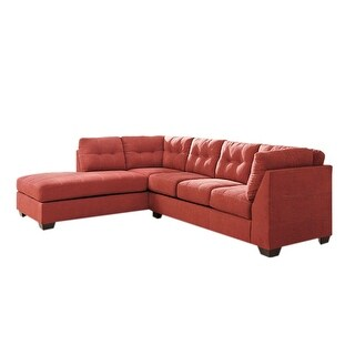 Offex Benchcraft Maier Sectional with Left Side Facing Chaise in Sienna Microfiber