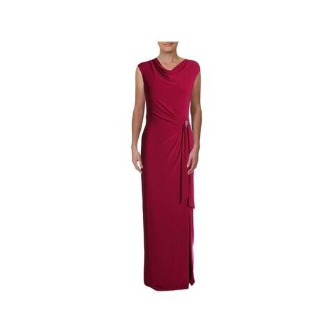 RALPH LAUREN Womens Pink Sleeveless Maxi Sheath Formal Dress Size 8