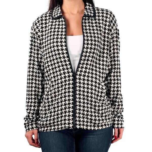 Shop Euro Joy Ladies Houndstooth Sweater Jacket Free