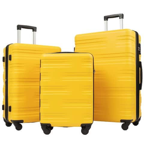 Siavonce Lightweight Luggage Sets Suitcase 3 Pcs