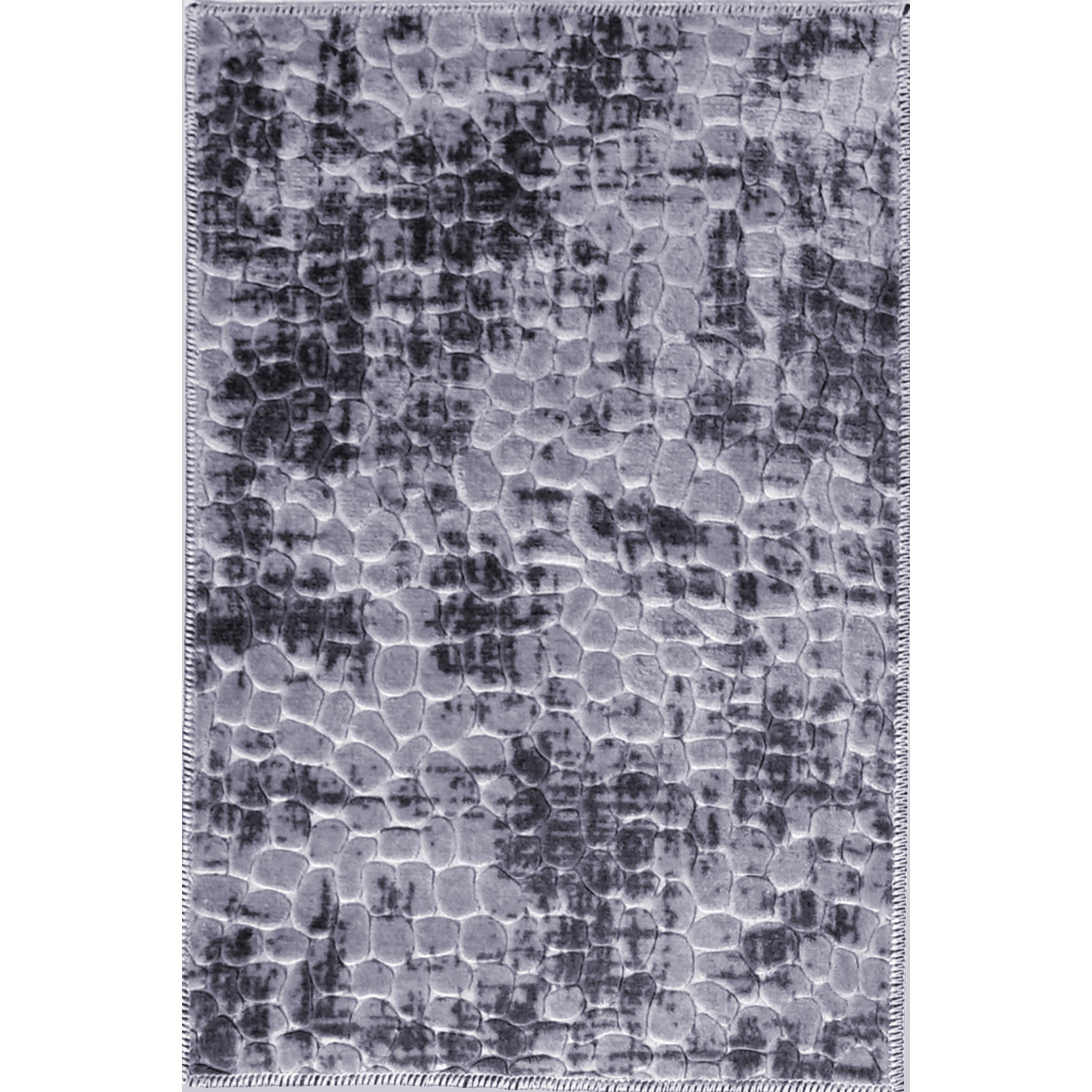 2ft 2inches Black//Grey//White Swirl bordered runner 67cm Wide.Rug//NonSlip//Wash