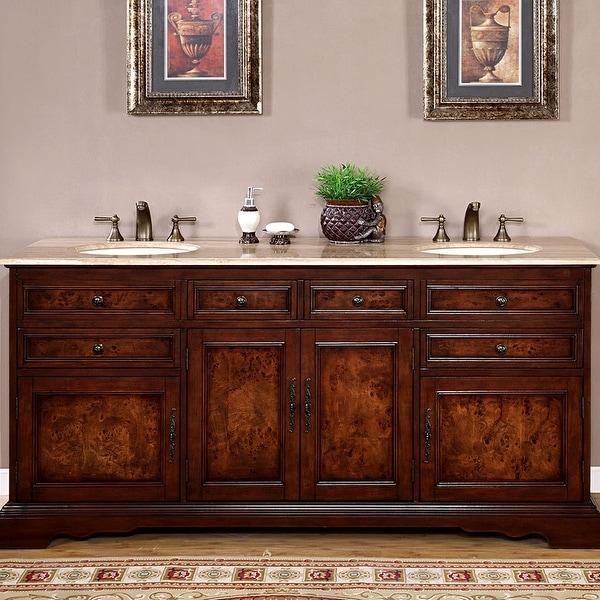 Silkroad Exclusive Watsonville 72-inch Double Sink Bathroom Vanity. Opens flyout.
