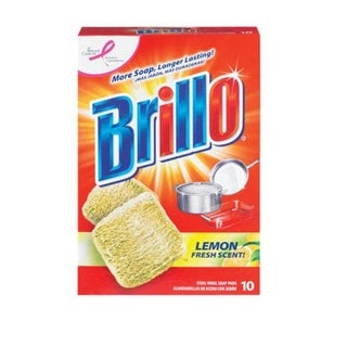 Brillo 23320 Steel Wool Pads With Lemon, 10 Count