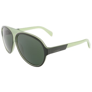 Diesel DL0138/S 98N Moss Green Teardrop Aviator sunglasses
