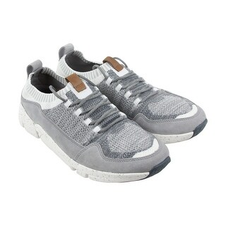 Clarks Triactive Knit Mens Gray Textile Athletic Lace Up Training Shoes