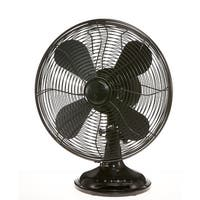 "DecoBreeze Table Euro Retro 12"" Blade Span 16-1/2"" Tall 3 Speed Table Fan"