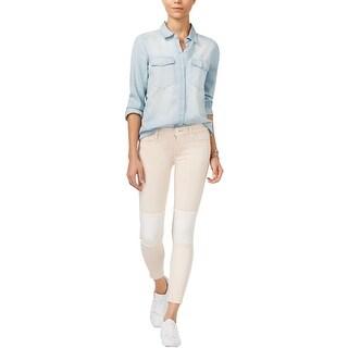 Hudson Womens Suzzi Skinny Jeans Twill Mid-Rise