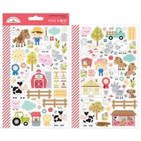 Down On The Farm Icons - Doodlebug Mini Cardstock Stickers